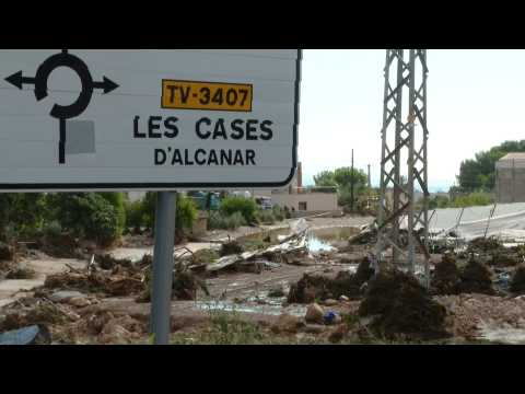 Footage of the situation after heavy rains in Tarragona, north-east of Spain