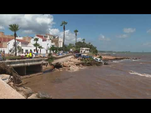 Residents left stunned by flood damage in Alcanar, Catalonia