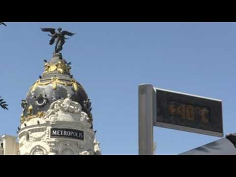 Sun and high temperatures, protagonists in Madrid