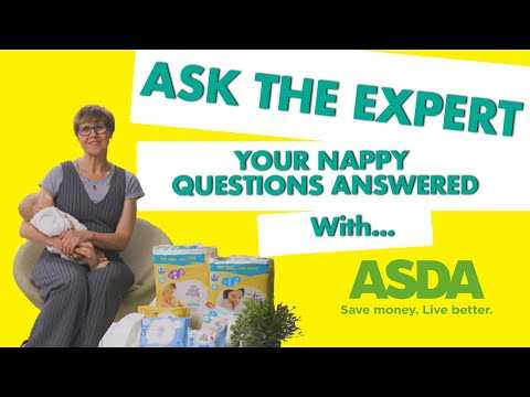 Ask the expert: your nappy questions answered with Rachel FitzD and ASDA