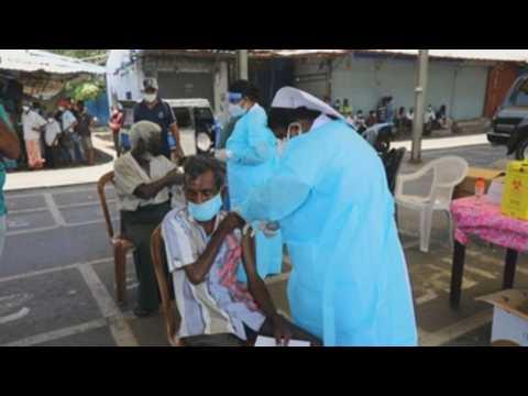 Sri Lanka conducts COVID-19 vaccination drive for underprivileged people