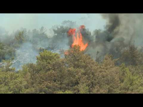 Turkey continues to battle persistent wildfires