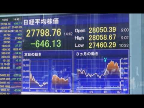 Nikkei drops 2.19% due to price of crude oil, possible tax increase