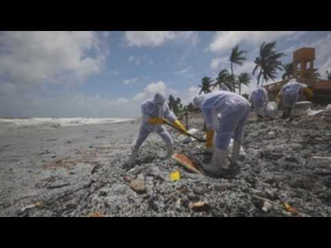 Sri Lanka Navy begins cleaning operations following explosion of cargo vessel MV X-Press Pearl