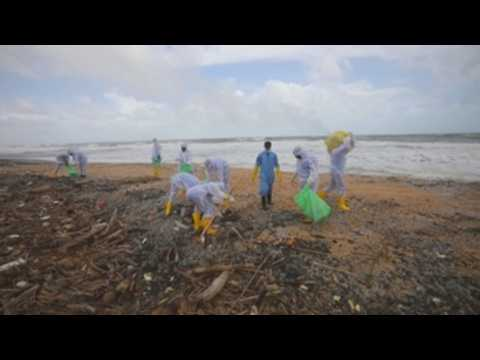 Sri Lanka fears acid rain due to blazing X-Press Pearl ship