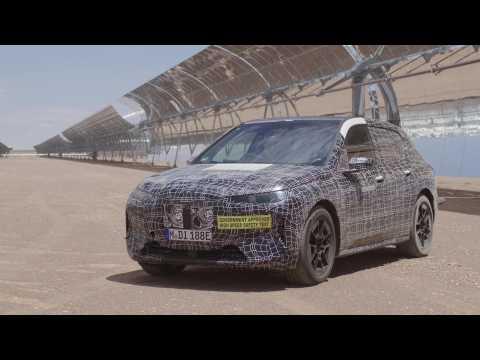 BMW iX - Development - Extreme heat test runs, solar plant