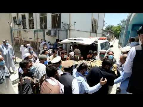 Bodies arrive at morgue after Afghan polio vaccinators shot dead