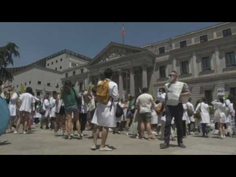 Future physicians protest in Madrid in demand for a fair choice system