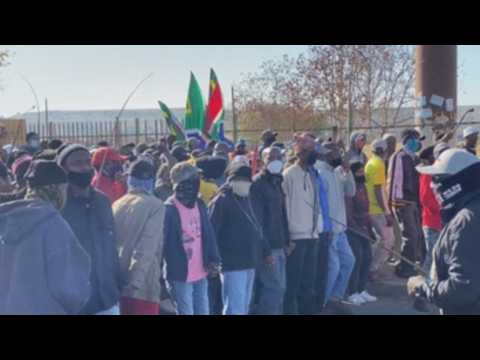 Xenophobic protest in Johannesburg calls for expulsion of foreign residents