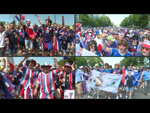 Euro 2020: France fans gather in Budapest ahead of match against Hungary