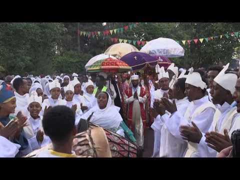 Ethiopian Orthodox believers celebrate St. Michael's day ahead of elections