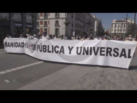 Protest in Madrid to demand the end of coronavirus vaccines patents