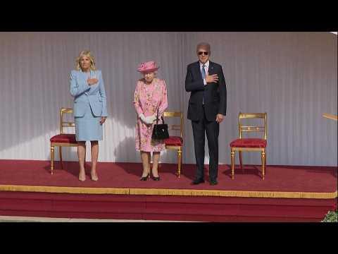 Queen Elizabeth II welcomes Joe and Jill Biden