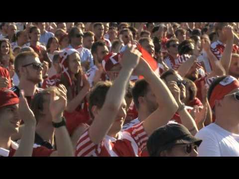 Euro 2020: Denmark fans pay tribute to Christian Eriksen