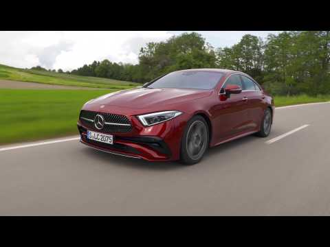 Mercedes-Benz CLS 300 d 4MATIC in Hyacinth red Driving Video