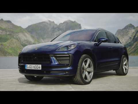 The new Porsche Macan Gentian Blue Metallic Design Preview