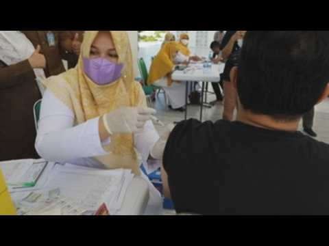 Mosque in Indonesia's Aceh opens doors for COVID-19 vaccinations