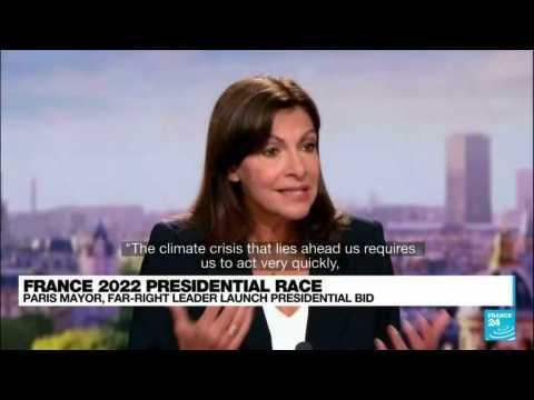 Paris mayor Hidalgo announces French presidential bid, climate targets