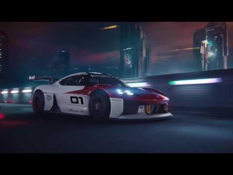 The new Porsche Mission R Trailer