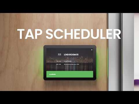 Logitech Tap Scheduler Overview and Setup - A Scheduling Panel for Any Meeting Space