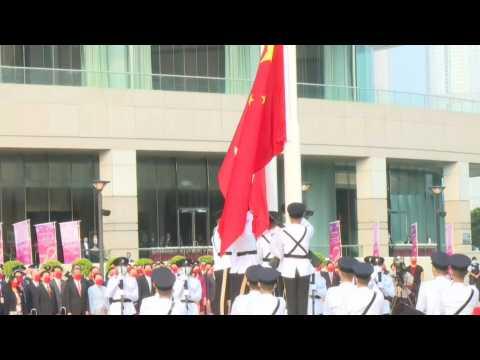 HK: Flag-raising ceremony to mark China's National Day