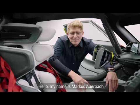 Porsche Mission R - highlights of the interior