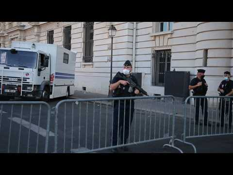 Security operation around the trial for the 2015 terrorist attacks in France