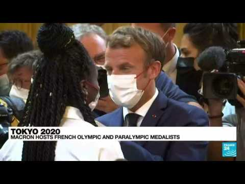 Tokyo 2020: French President Macron hosts olympic and paralympic medalists