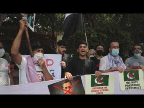 Afghan refugees protest against Pakistan in New Delhi