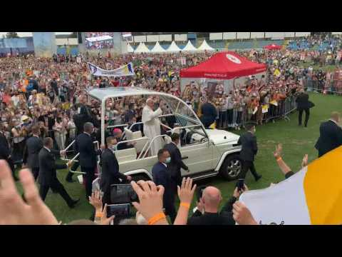 Pope Francis meets young people in Kosice