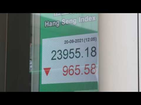 Hong Kong stocks drop 3.5% before closing