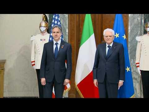 US Secretary of State Antony Blinken meets Italian president in Rome