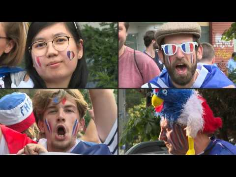 'Come on France!': Excited fans gather in Bucharest ahead of match