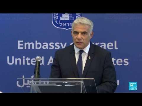 Lapid, on UAE trip, opens first Israeli embassy in Gulf