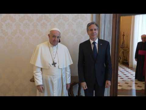 Pope Francis meets US Secretary of State Antony Blinken at Vatican
