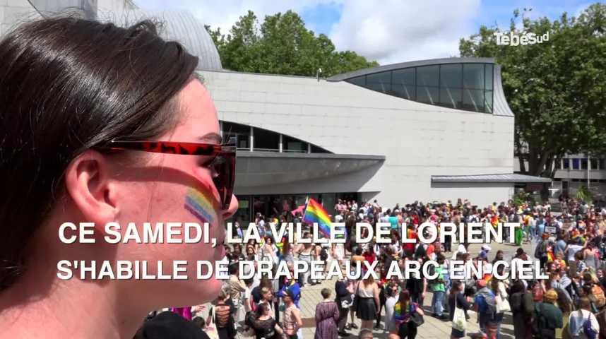 Thumbnail Lorient : 1000 personnes à la Marche des fiertés LGBT+