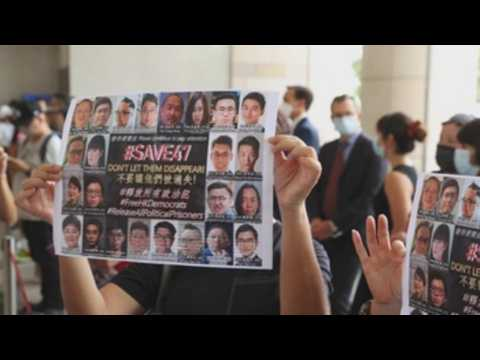 Hong Kong protesters stand trial for national security law violation