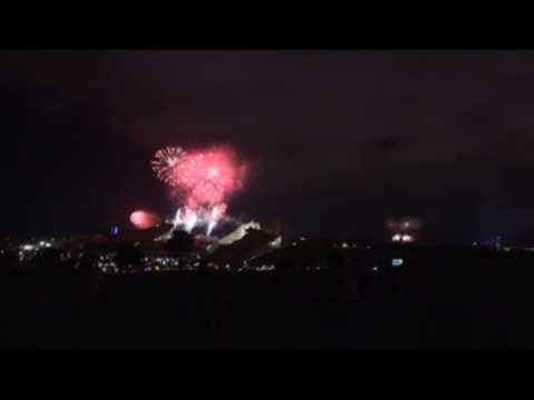 Fireworks in honor of the patron saint of Spain, James the Great
