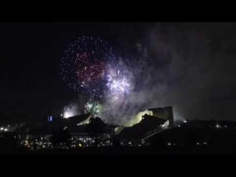Santiago de Compostela marvels at the traditional fires of its patron saint