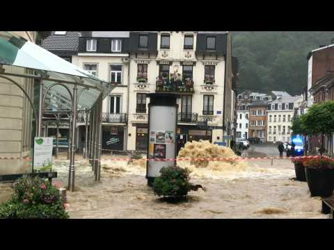 City of Spa in eastern Belgium sees flooding after heavy rains