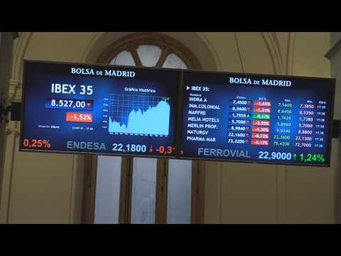 Spain's Ibex 35 falls by 1.52% and stands at April levels, touching 8,500 points