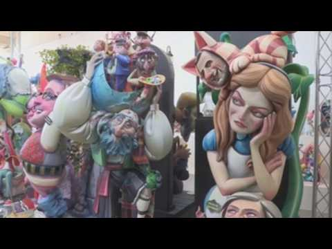 Pandemic meddles with satire of unusual Ninot Fallas exhibition in Spain's Valencia