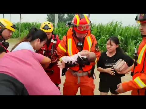 Vulnerable residents rescued following deadly China flooding