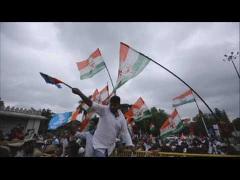 Indian activists, congress workers protest over Pegasus spyware in Bangalore