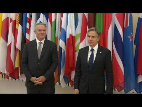 OECD Secretary-General greets US Secretary of State Antony Blinken in Paris