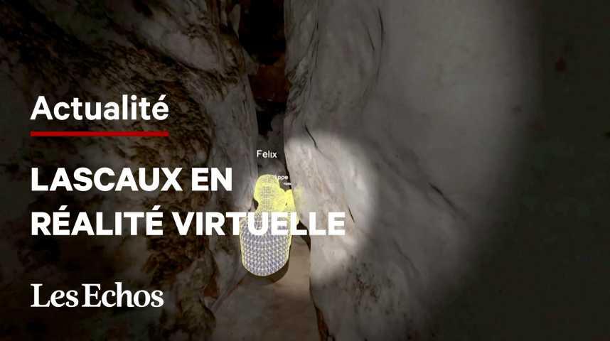 Illustration pour la vidéo La grotte de Lascaux visitable en réalité virtuelle à Paris