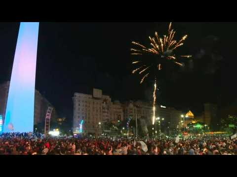 Argentines celebrate Copa America victory in Buenos Aires