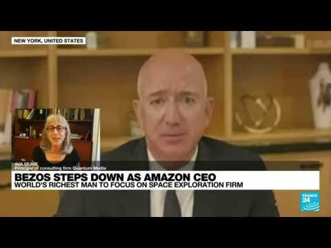 Amazon founder Jeff Bezos steps down as CEO to focus on space exploration