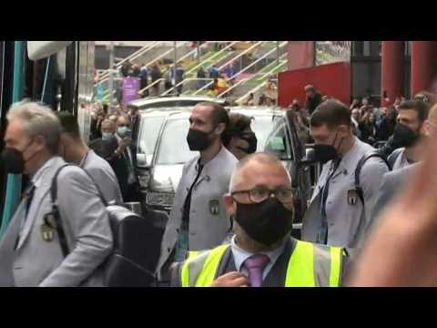 Euro 2020: Italy leave hotel for Wembley Stadium