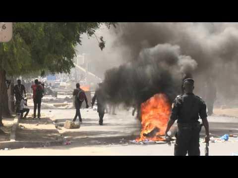 Senegal police, protesters scuffle as MPs debate anti-terror law